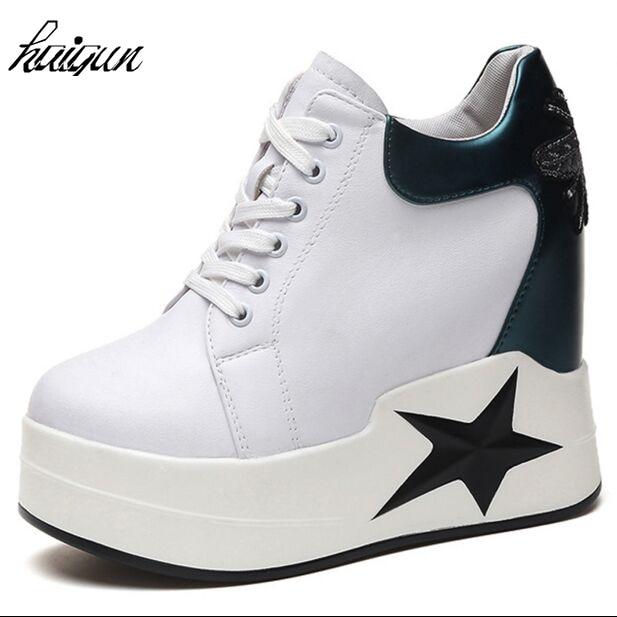 f1b78425f6 Neue 2019 frühling Keile High Heels dicken sohlen Damen Casual Einzelnen  Schuhe herbst Frauen plattform schuhe