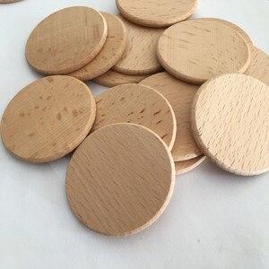 Image 3 - Rodajas de madera Natural 100 Uds., manualidades de madera de 1,96 pulgadas, Rodajas de madera redondas naturales, bricolaje para mesa de fiesta de cumpleaños, números, pintura con motivo de boda