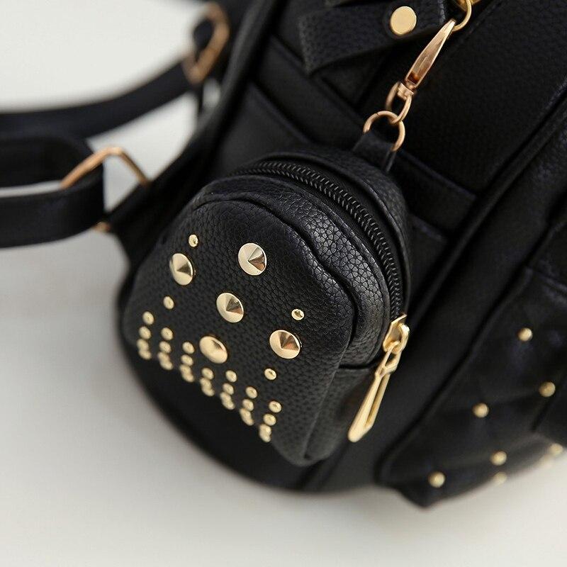 38d6387f4b60 2019 Summer New Vintage Retro Lady PU Leather Bag Small Women Mini Backpack  Mochila Feminina School Bags for Teenagers Bolsa 516-in Backpacks from  Luggage ...