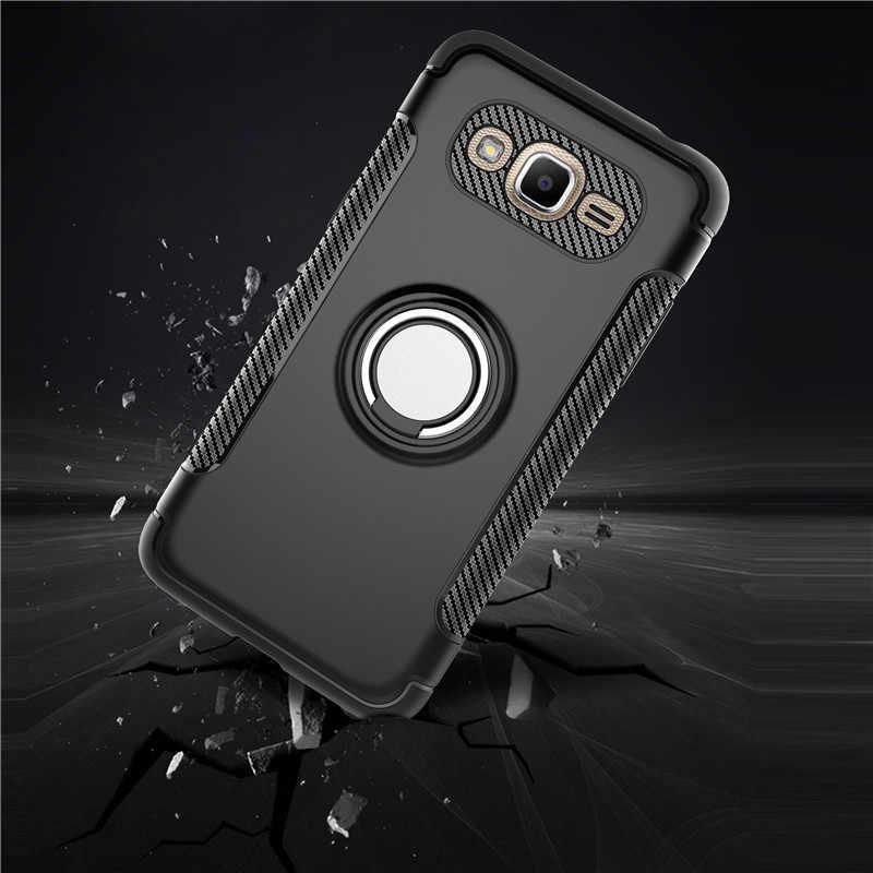 Мягкий чехол из ТПУ с кольцом для samsung Galaxy S7 Edge S8 S9 Plus J2 J5 J7 Prime J3 Pro, ударопрочный чехол на заднюю панель для мобильного телефона