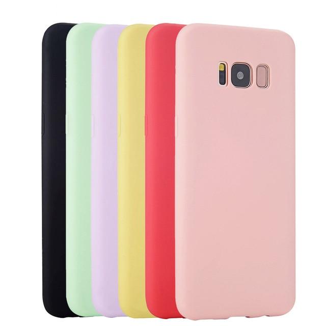Gốc Silicone Mềm Trường Hợp Đối Với Samsung Galaxy S6 S7 Cạnh S8 Cộng Với S4 S5 Neo Siêu Mỏng Dễ Thương Kẹo Di Động điện thoại Trở Lại Bìa