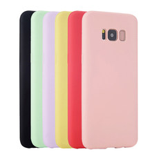 Original Soft Silicone Case For Samsung Galaxy S6 S7 Edge S8 Plus S4 S5 Neo Ultra Thin Cute Candy Cell Phone Back Cover(China)