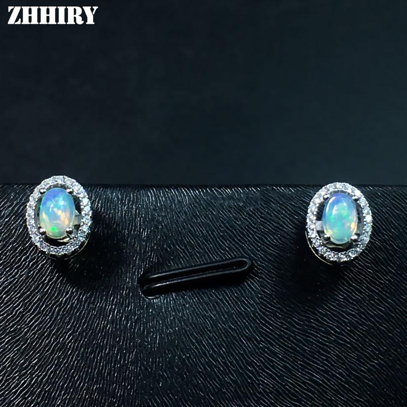 ZHHIRY Σκουλαρίκια Φυσικών Πυρκαγιών Opal - Κοσμήματα - Φωτογραφία 4