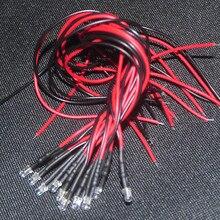 10pcs 3mm 12V LED 20cm Blue Flash Pre-wired Diodo 3mm Blink Blinking Diod Lamp Decoration Light Emitting Diodes Pre-soldered