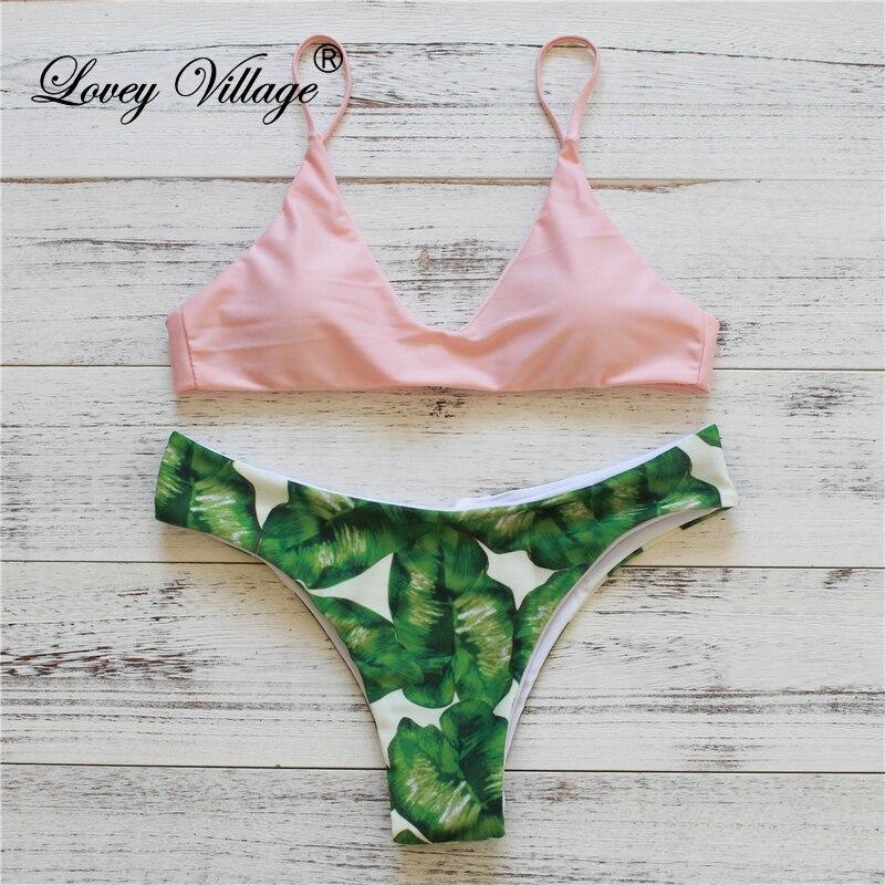 Lovey Village 2016 Nya Bikini Kvinnor Baddräkt Push Up Baddräkt - Sportkläder och accessoarer