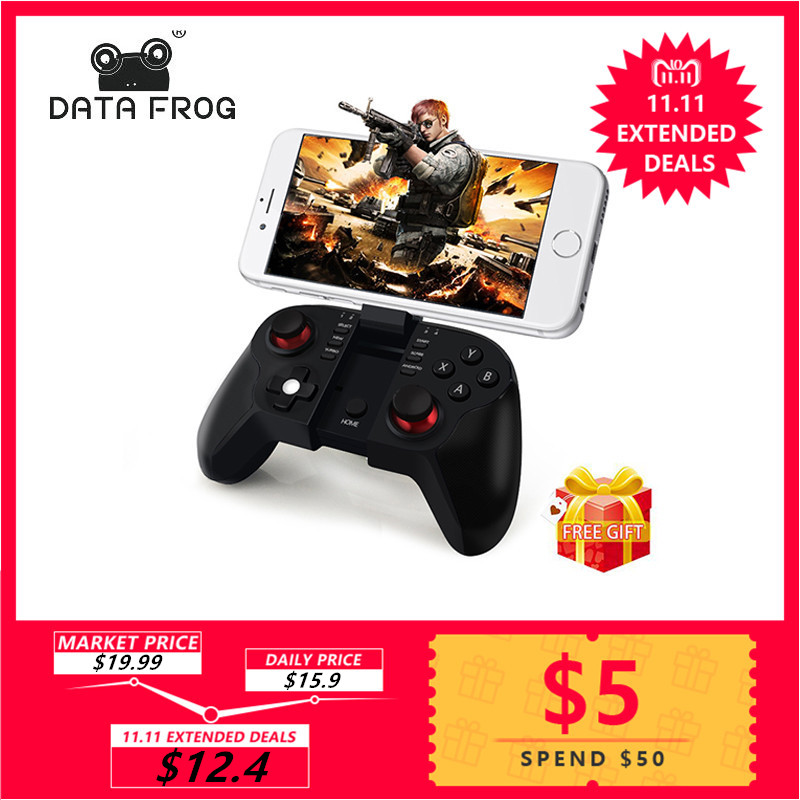 Data Frog VR Bluetooth Android Gamepad Wireless Joystick Controller For Iphone IOS icade PC Smart TV Mini Gaming Gamepads стоимость