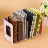 HIPSTEEN Storage Holders Creative Wooden DIY Desktop Book CD Storage Sorting Bookends Office Carrying Shelves