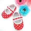 Новинка красный горошек малыша обувь горячая распродажа новорожденных девочек первый уокер обувь бесплатная доставка KP-A10