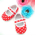 New design red polka dots Toddler Shoes hot sale Baby Girls Shoes First Walker shoes Free Shipping KP-A10