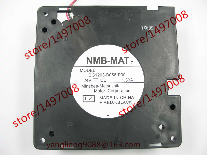 NMB-MAT BG1203-B058-P00, L2 DC 24V 1.30A 120X120X32mm Server Blower fan free shipping for nmb bg1203 b058 p00 l2 dc 24v 1 30a 3 wire 3 pin connector 50mm 120x120x32mm server blower cooling fan