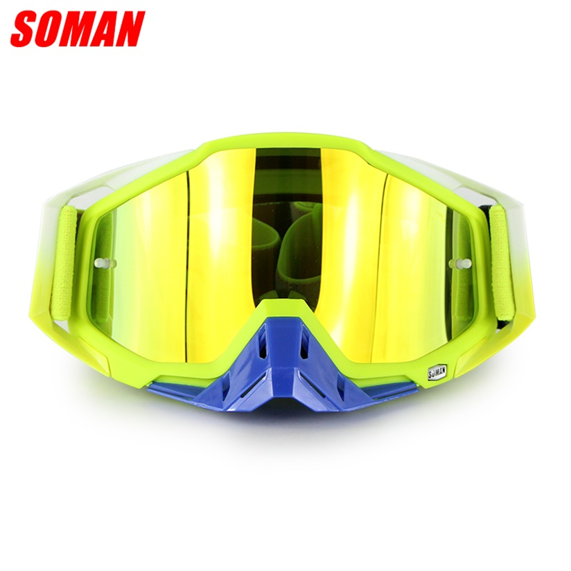 Soman SM11 Motorcycle Racing Goggle Moto Cross Country Field Glasses Motor Bike Gafas Off Road Glasses CE Approval