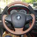 Car- Styling New Anti Slip Swede Leather Steering Wheel Stitch on Wrap Cover For BMW X5