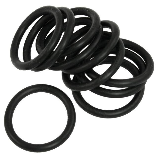 UXCELL 10 Pcs Black Nitrile Butadiene Rubber O Ring 35Mm X 4Mm Nbr ...