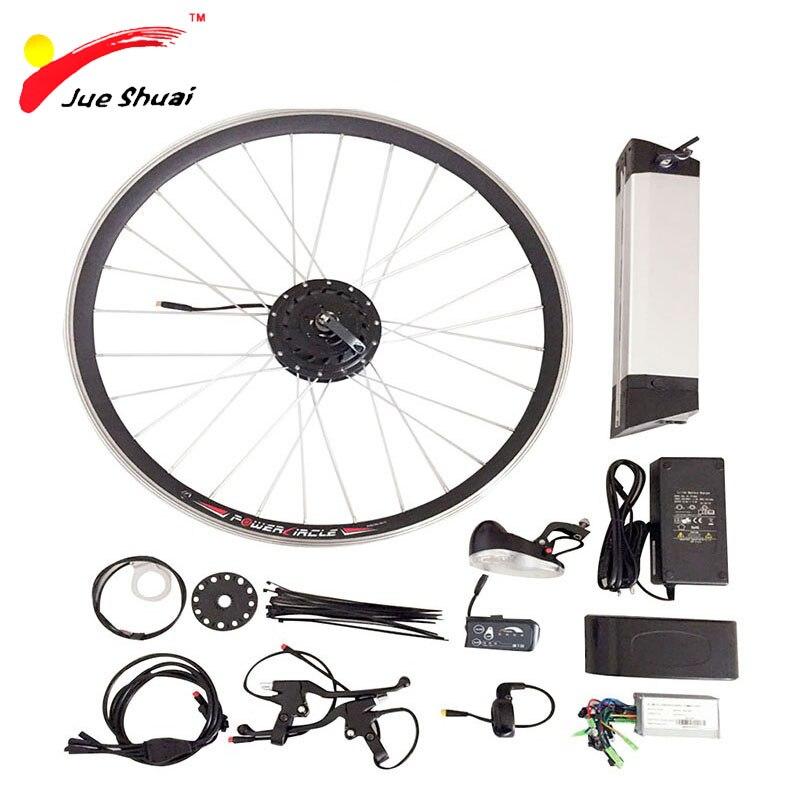 12 Parts Whole Set E Bike Refit Kit With36V 500W Battery LED Display Controller Motor Brake