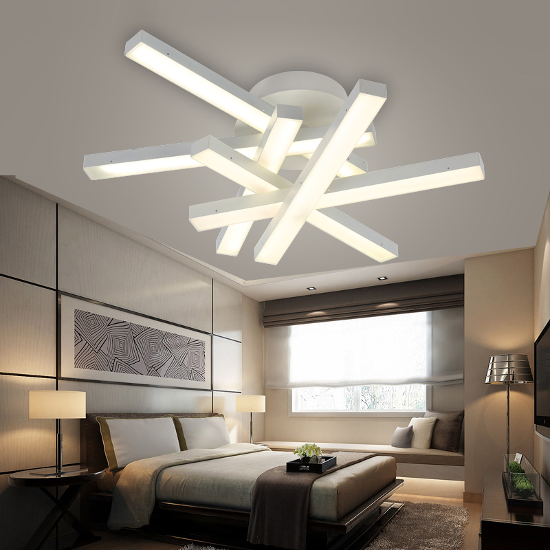 Modern Led Ceiling Lamps LED White Light Warm Living Room Dining Lamp Lustre Lights