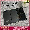 """HQ Para el iphone 6 6 s 4.7 """"como 7 negro volver bisel vivienda chasis para iphone 6 carcasa posterior de la batería negro con logo envío gratuito"""