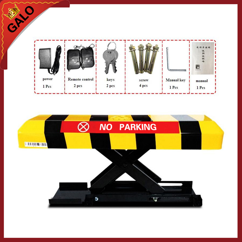 Rremote controllers parking lock car parking lot application/rising height 305mm automatic battery parking post barrier bollard half ring shape of the block machine parking barrier lock