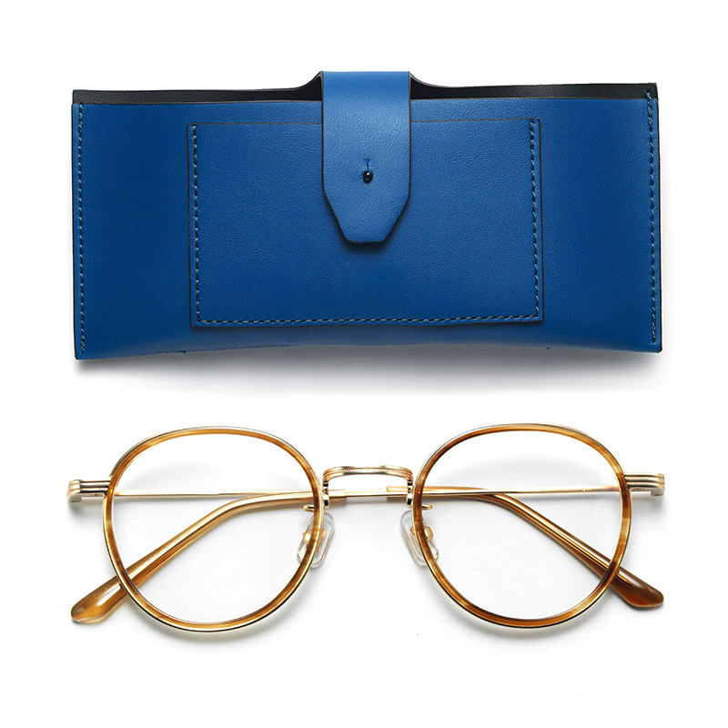 Lunettes douces montures de lunettes acétate et métal pour hommes unisexe lunettes rondes montures avec lentille Clera rétro lunettes cadre YETI
