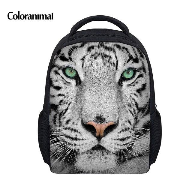 Coloranimal Cool Stylish Preschooler Mini School Bags 3D Animal Tiger Lion  Printed Kindergarten Bookbags Boys Girls Schoolbags b62804f03666a