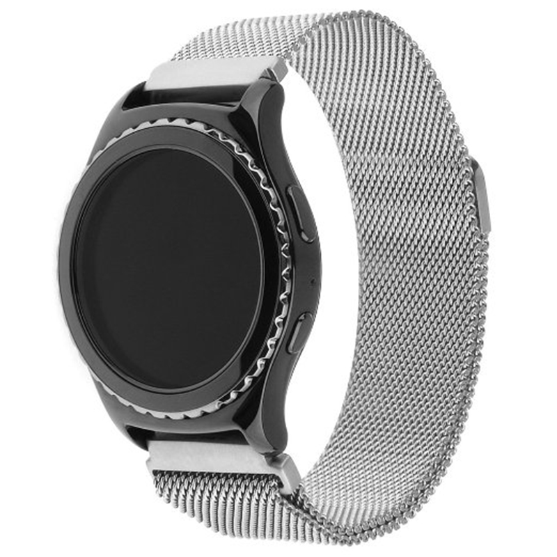 Excellent Quality 20mm Milanese Loop Strap Stainless Steel Smart Watch Band Bracelet for Samsung Gear S2 Classic SM-R732 2017 new stainless steel bracelet strap watch band milanese magnetic with connector adapter for samsung gear s2 watch band
