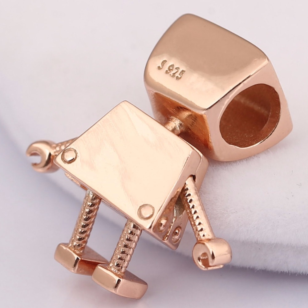 a5bd162b6 2018 Wholesales 100% 925 Sterling Silver Charm Robot girl Rose Bella Bot  Charm Fit Original Pandora Bracelet Bead Diy Jewelry-in Beads from Jewelry  ...