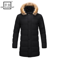 DIFFELEMENT 2017 New Style Long Coat Men Brand Clothing Fashion Long Jackets Coats Brand Clothing Mens
