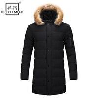 DIFFELEMENT 2017 New Style Long Coat Men Brand Clothing Fashion Long Jackets Coats Brand Clothing Mens