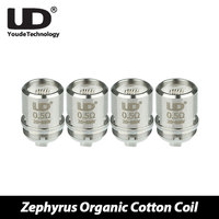 100 Original UD Zephyrus Organic Cotton Coil 0 2ohm 0 3ohm 0 5ohm 1 8ohm For
