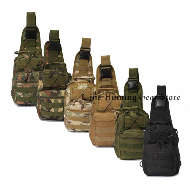 600D Nylon Sports Molle Chest Bag Tactical Military Shoulder Strap Bag Men Women Outdoor Camping Hiking Bag