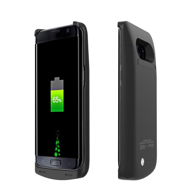 imágenes para Para samsung galaxy s7 edge caso 5200 mah energía del cargador de batería para samsung galaxy s7edge g935 cubierta de alimentación