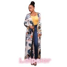 2018 Fashion Long Sleeve Ethnic Floral Print White Shirt Women Elegant Summer Tops Kimono Beach Tunic Cover Up Blusas D48-AC-87 ethnic floral print half sleeve short kimono fo women