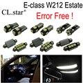 26 шт. Ошибка Бесплатный LED Интерьер Лампа Комплект Для Mercedes e-класса S212 Недвижимости Wagon E200 E220 E250 E300 E350 E500 E400 E63 10-15