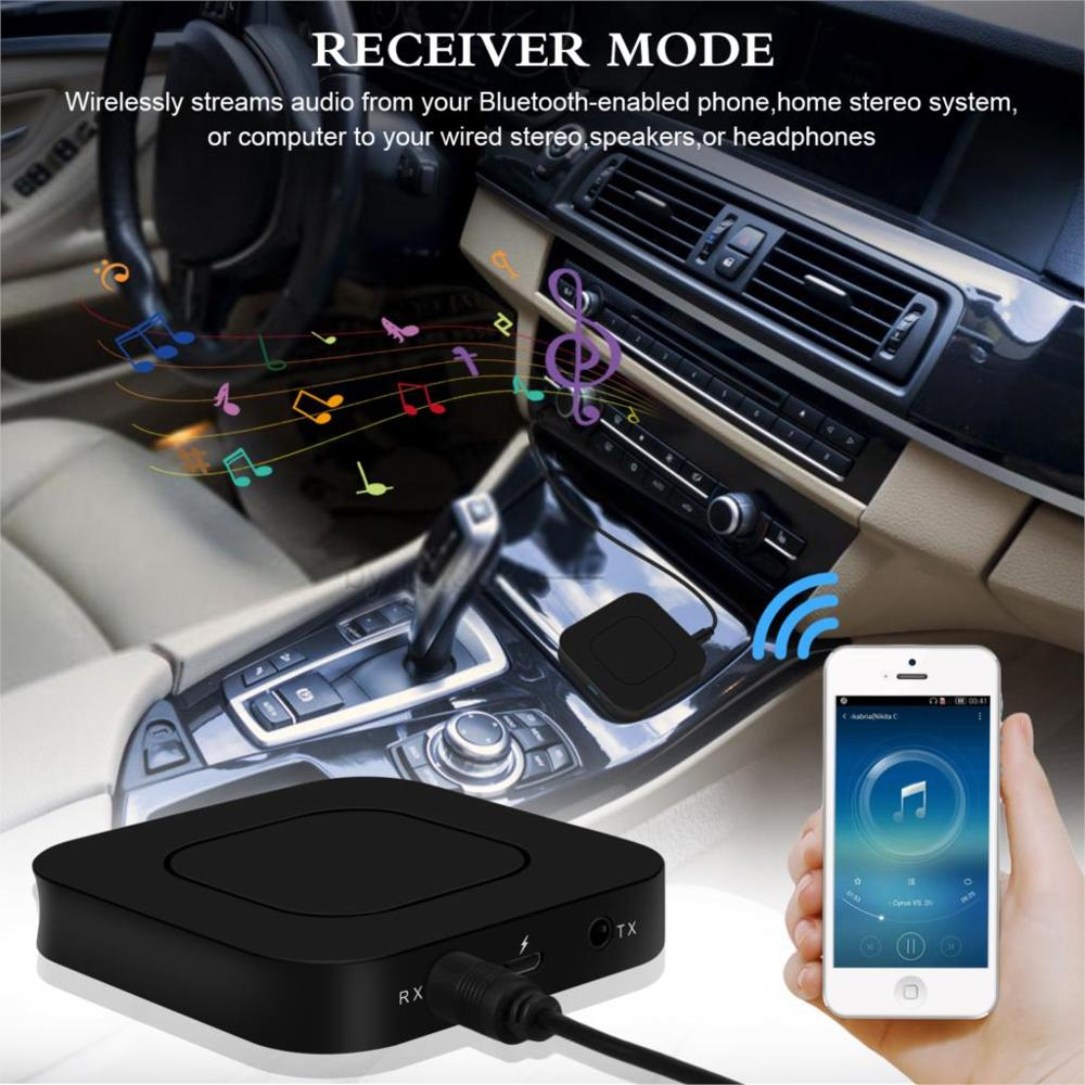 Image 3 - 2 in 1 Wireless Bluetooth 4.2 Audio Transmitter Receiver 3.5mm Aux Adapter For TV Home Stereo System PC Earphone Speaker-in USB Bluetooth Adapters/Dongles from Computer & Office