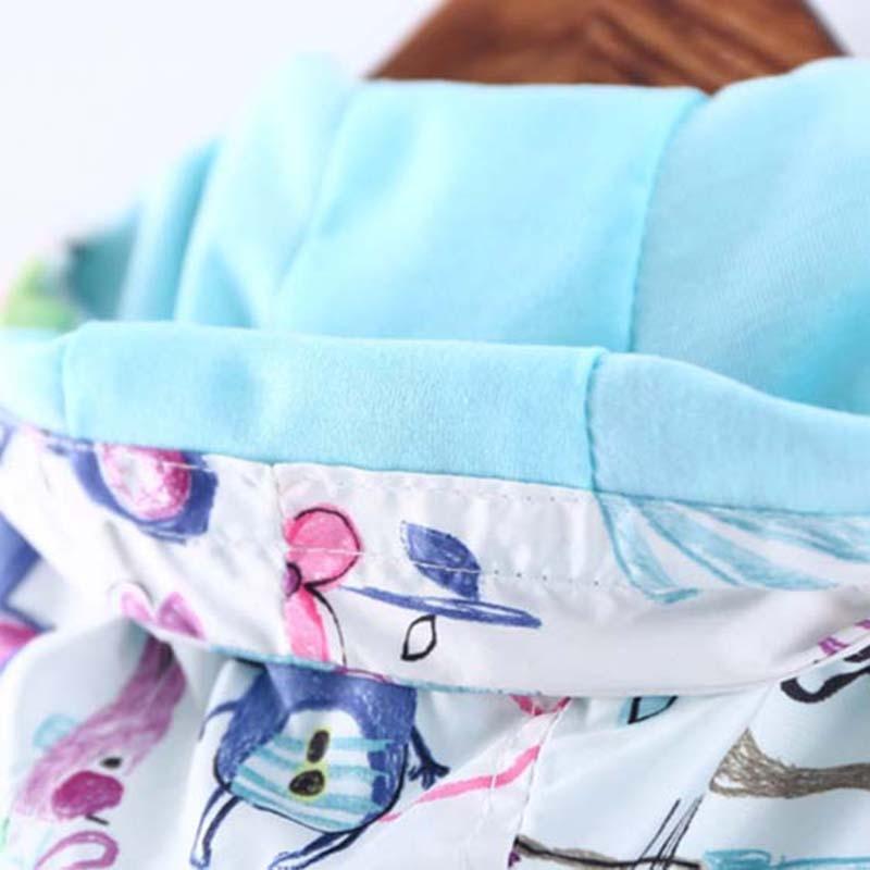 dosoma 2017 новая коллекция весна детские пальто и куртки для девочки мультфильм граффити с капюшоном ветровка для девочек полный рукав малыша верхняя одежда