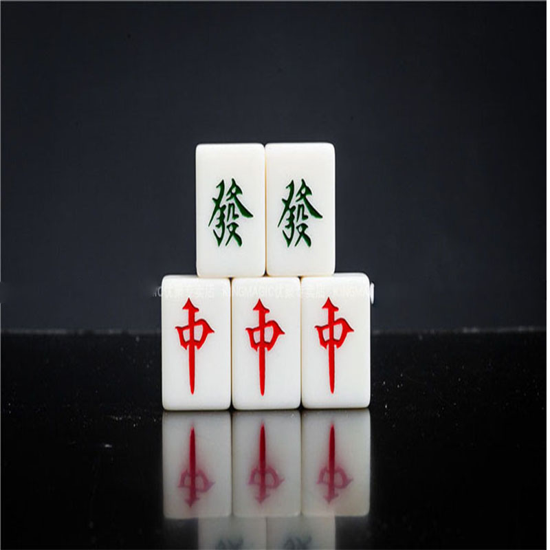 1 set Movie Mahjong position move stage street magic props Five mahjong Close up magic interactivity magic trick 83215 ...