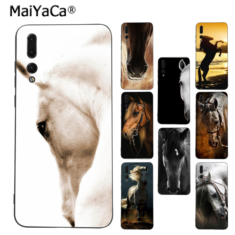 MaiYaCa Horse Animal Running Printed Coque Phone Case for Huawei Mate10 Lite P20 Pro P9 P10 Plus Mate9 10 Honor 10 View 10