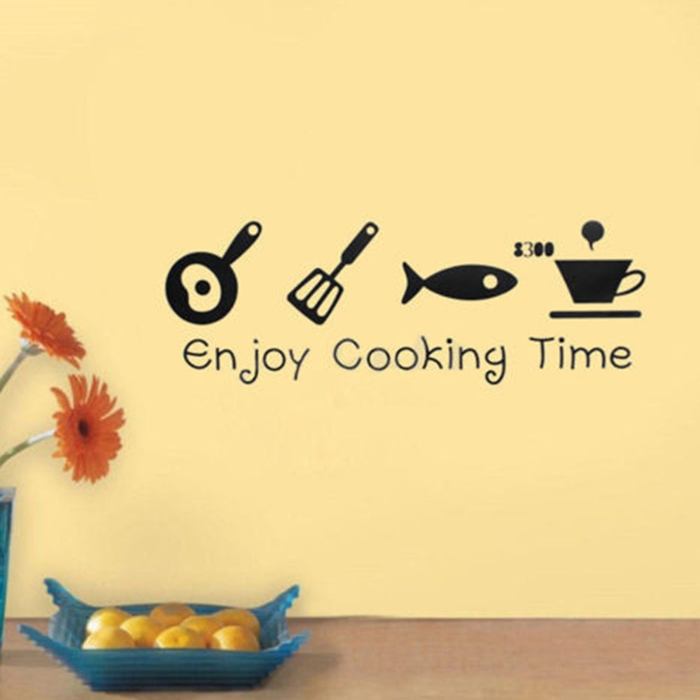 Creative DIY Wall Stickers Kitchen Decal Home Decor Restaurant ...