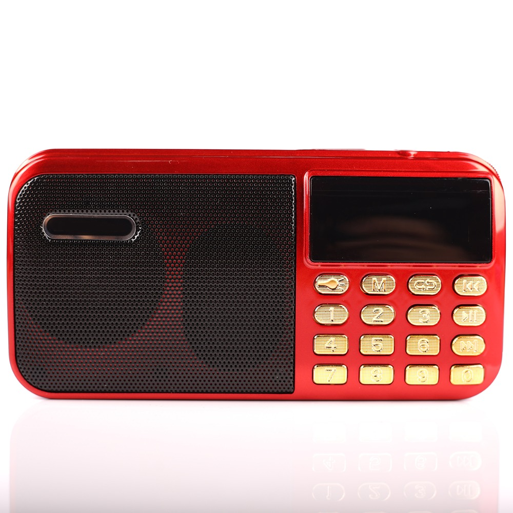 все цены на c-803 Portable Mini FM Radio Speaker Music Player TF Card USB For PC iPod Phone with LED Display outdoor Dancing mp3 HiFi онлайн