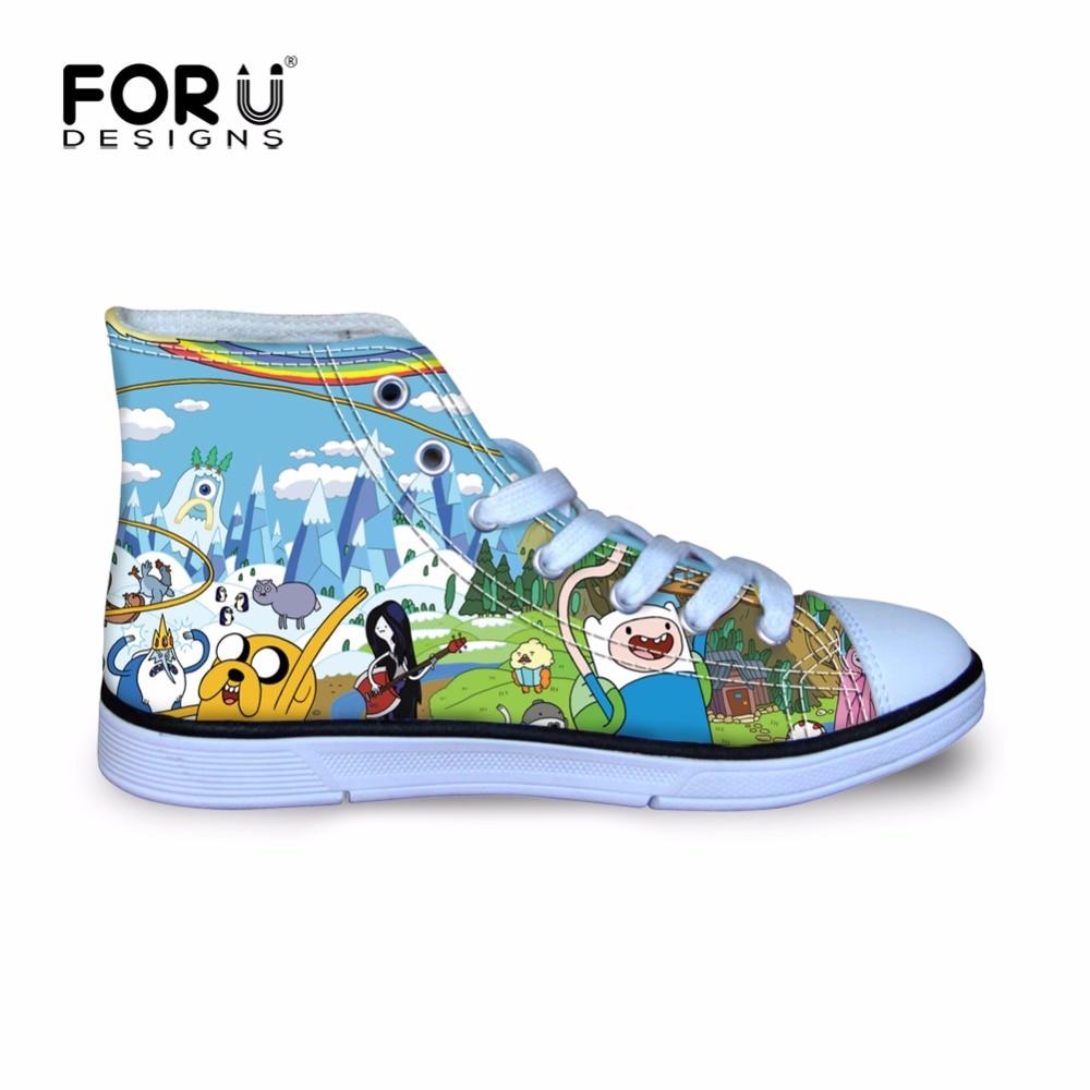 11f4b87606fb0a FORUDESIGNS Adventure Time Cartoon Walking Sneakers Sport Flat ...