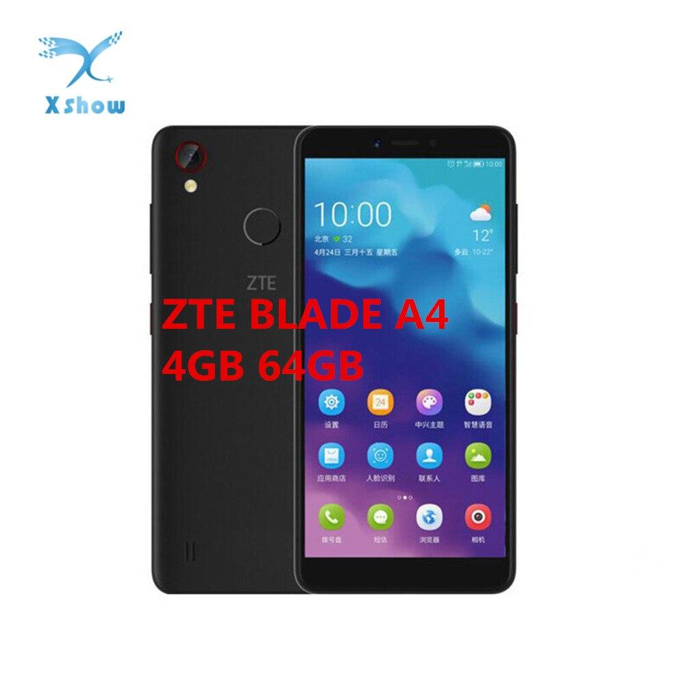 Original ZTE Blade A4 Smartphone 4G LTE snapdragon 435 Octa Core 4GB RAM 64GB ROM 5