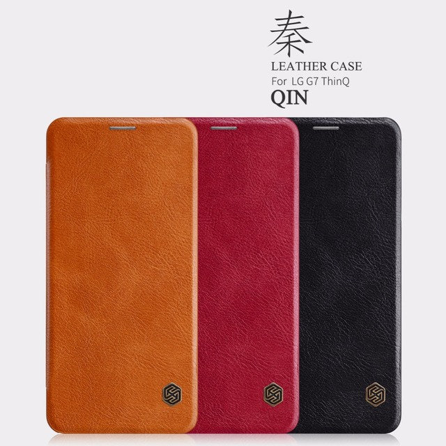 on sale 5eedc 22a83 US $10.89 10% OFF|leather case for LG G7 ThinQ Nillkin QIN Series case  cover bag Protective flip Cover for LG G7 ThinQ with Retail package-in Flip  ...