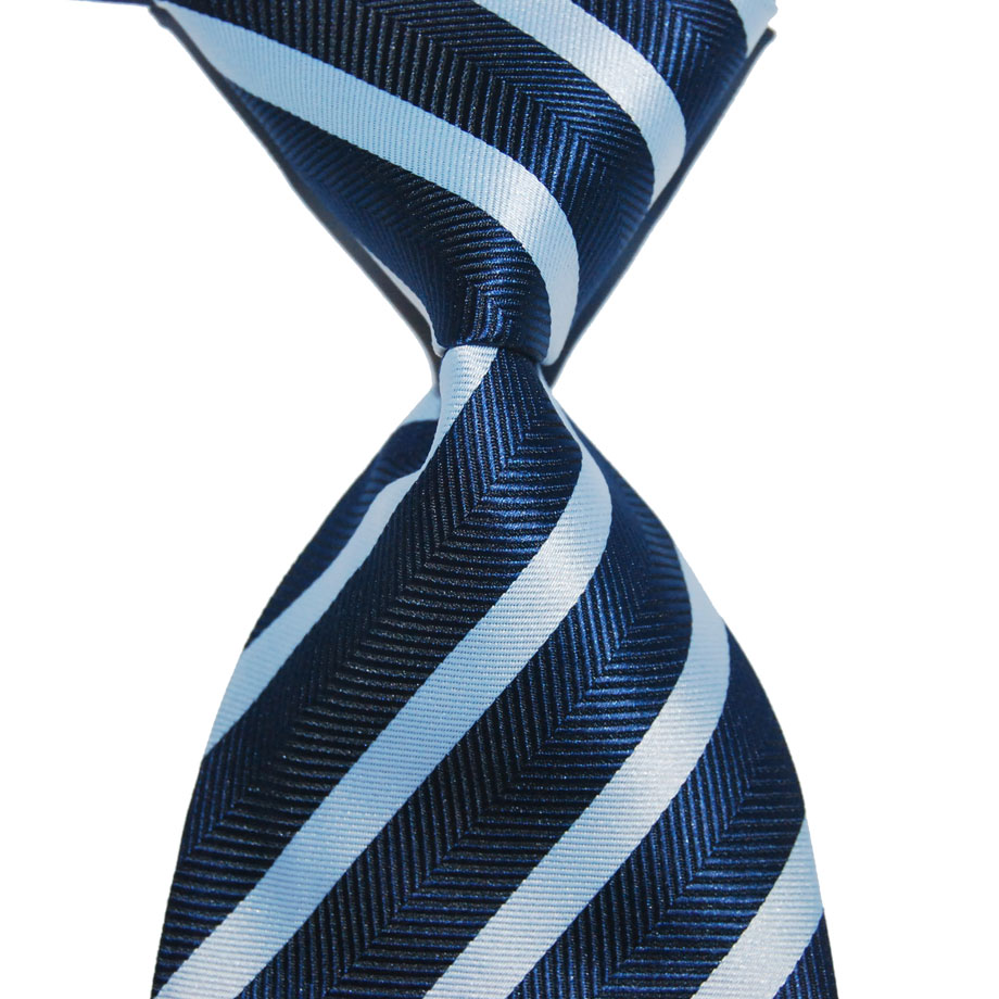 10cm Wide Blue Navy Necktie Tie For Men Silk Fashion Knit Jacquard Woven Male Formal Wear Business Suit Wedding Party Christmas