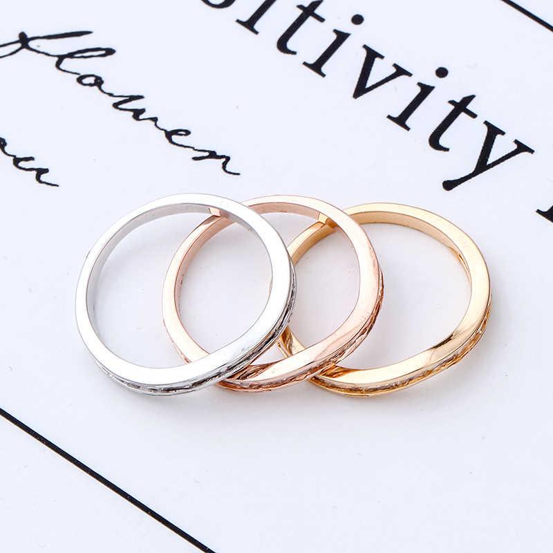 Charming White Zircon May Birthstone แหวนชุดสำหรับเครื่องประดับแฟชั่นผู้หญิง Rose/White Gold Filled แหวนคู่เจ้าสาวชุดของขวัญ