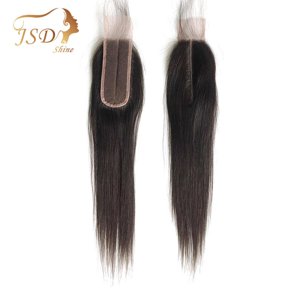 JSDshine Human Hair Closure Brazilian Straight Closure 2*6 Lace Closure 100% Remy Straight Human Hair Closure with Baby Hair
