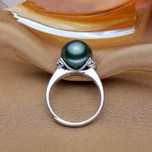 Natural freshwater Pearl Ring for Women New Fashion 925 Sterling Silver Ring Jewelry Female Wholesale rings 2017 Wedding Jewelry