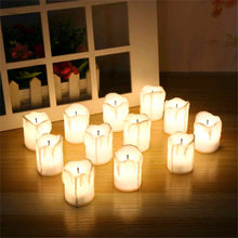 2PCs 3.6*5CM Simulated LED Candle Flameless Electronic Candle New Year Birthday Wedding Thanksgiving Day Party DIY Decos Gift