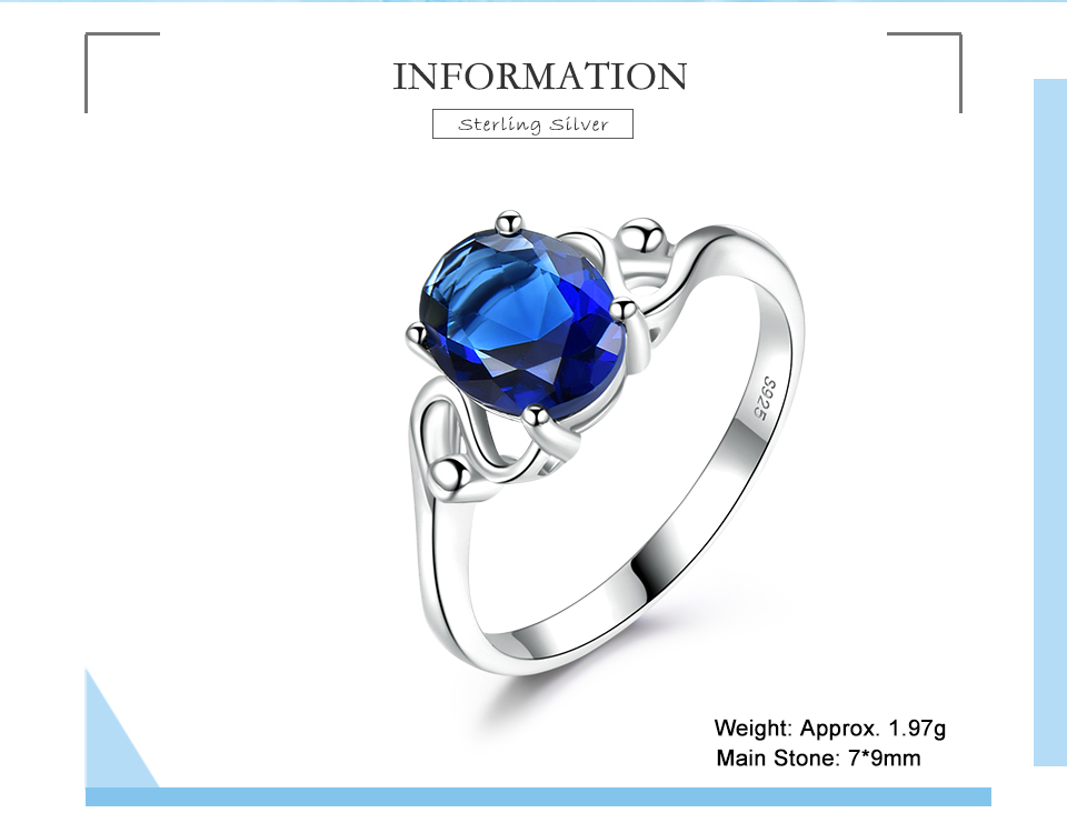 Honyy Sapphire 925 sterling silver rings for women RUJ089S-1-PC (2)