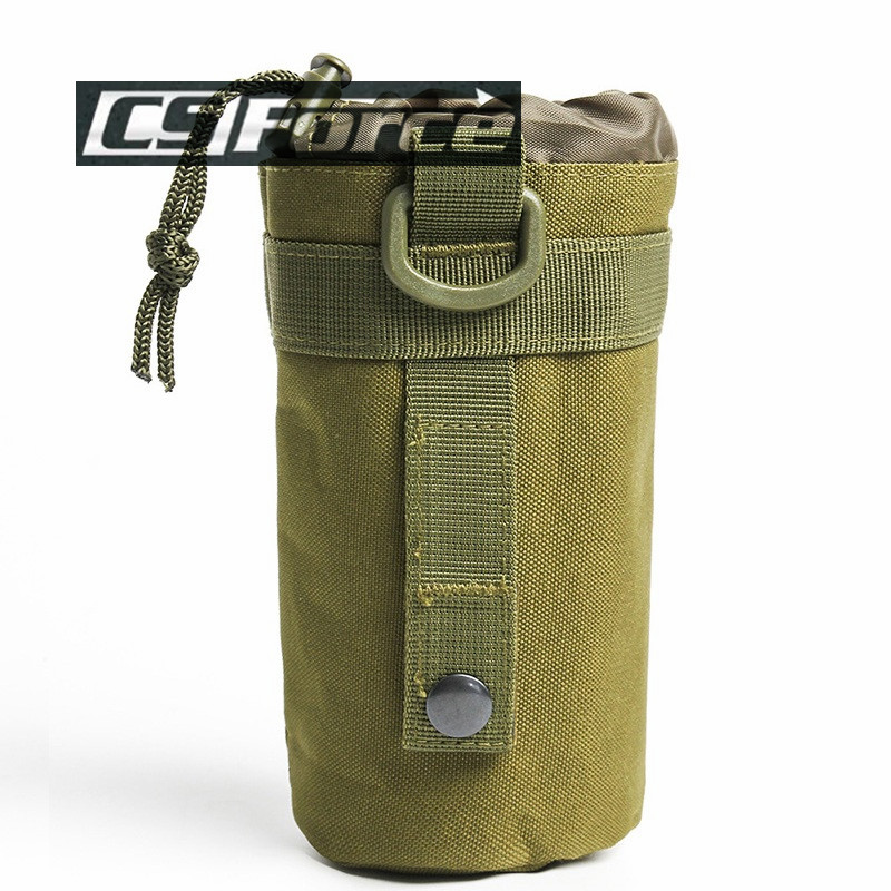 CS Force Tactical Military Molle System Water Bottle Bag Outdoor Sports Camping Hiking Travel Kits Survival Kettle Pouch Holder