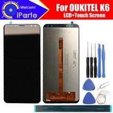 5.99 calowy wyświetlacz LCD OUKITEL K6 + montaż digitizera ekranu dotykowego 100% oryginalny nowy LCD + dotykowy Digitizer dla OUKITEL K6 + narzędzia