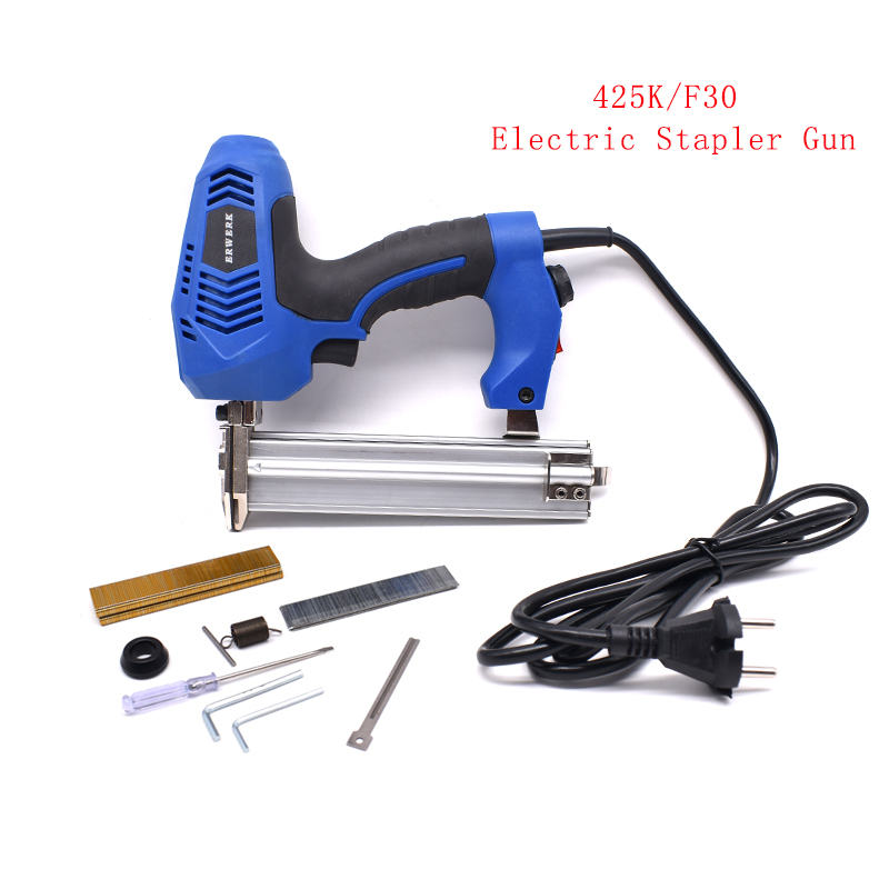 425K F30 Framing Tacker Electric Stapler Gun 2 In 1 Brad Nails And Staple With 600Pcs